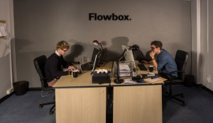 Flowbox Ed and Will at desks